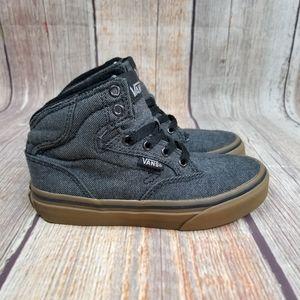 VANS Denim & Gum Mid Sneakers Kid's Size 12